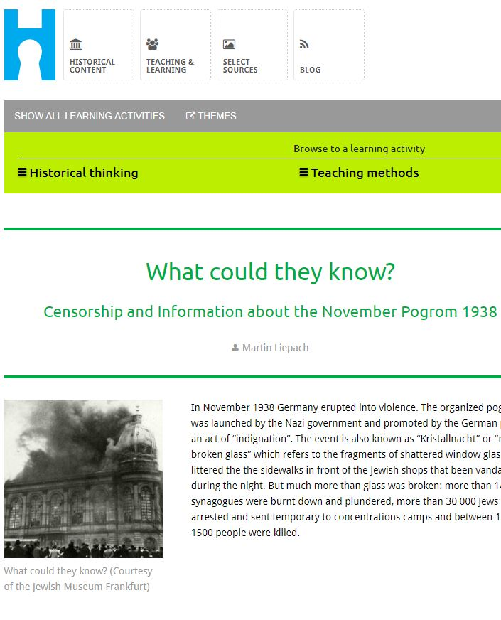What could they know? Censorship and Information about the November Pogrom 1938